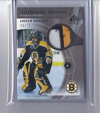 2005-06 SP GAME USED ANDREW RAYCROFT UD AUTHENTIC PATCHES SP /75 BRUINS