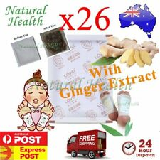 26 Detox Foot Pad Patch KINOKI Herbal Weight loss toxin removal w Ginger Extract