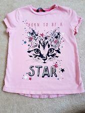 Girls Pink Tshirt George size 5-6 yrs