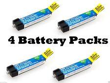 dernier E-Flite 150mAh 1S 3.7V 45C Lipo 4 pcs batterie Blade MSRX Parkzone Nao