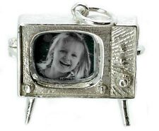 STERLING SILVER OPENING PERSONALISED TV CHARM /LOCKET/PENDANT