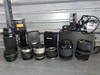 HUGE LOT vintage Camera Film Lenses Exposure Meters Cameras Minolta Access Etc