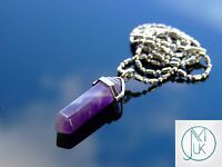 Amethyst Crystal Point Pendant Natural Gemstone Necklace Healing Stone Chakra
