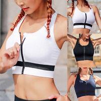 Damen Nahtlos Push Up Sport BH Bra Bustier Fitness Yoga drahtlose Gepolsterte P/