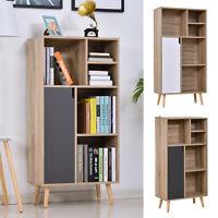121x60 Freestanding Storage Cabinet Bookcase w/ 5 Compartments Furniture
