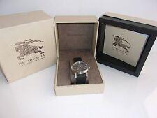Men's Burberry Swiss Chronograph Watch Beat Check Fabric Strap BU9359