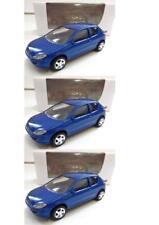 """Lot 3 Peugeot 206 Bleu 1/64 """"3 Inche"""" Diecast NOREV Produit NEUF !!"""