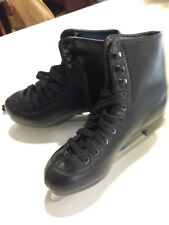 New listing American Rocket Boys Figure Ice Skates Insulated Black Tricot Lined #517 Size 2