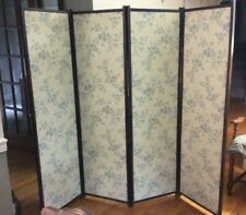 Antique 4 panel Arts & Crafts Mission Folding Screen Room Divider Privacy Panel