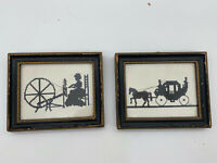 Silhouette Pictures 2pc framed and signed