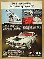 1971 Mercury Comet GT 6x color photo vintage print Ad