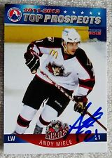 Phoenix Coyotes Andy Miele Signed 11/12 AHL Top Pros Portland Pirates Auto Card