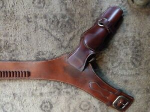 el paso saddlery leather belt and 2 holsters