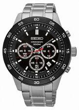 Seiko Herrenuhr Uhr Chrono Chronograph Edelstahl Datum Schwarz SKS527P1