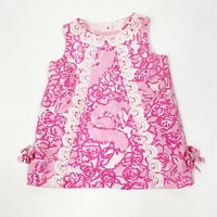 Lilly Pulitzer Infant Baby Girl Shift Dress Sz 6-12 Months Light Dark Pink White
