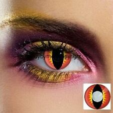 80050 80081 paire de lentille couleur rouge lens contact vampir fantaisie red
