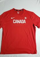 Nike Pro Elite Mens Warm up shirt Team Canada Size XL Track and Field