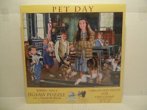 PET DAY 1000+ Jigsaw Puzzle Larger Size Pieces SunsOut BRAND NEW SEALED!