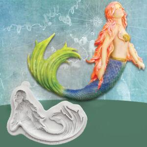 Mermaid Silicone Fondant Mould Cake Sugarcraft Decorating Baking Border Mold DIY