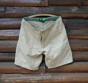 John Deere Khaki Beige Shorts Adult Waist Size 36 Genuine Quality Nice