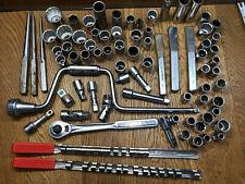 Vintage =CRAFTSMAN= 1/2 Drive HUGE Lot Ratchet Driver Extension Sockets Chisels
