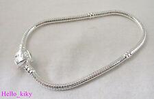 5Pcs Silver plate LOVE Bracelet Charm Bracelet 17cm M3670