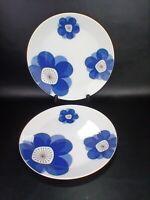 "Indigo moon china 2 dinner plates 10 1/2"" made in Japan 3915"