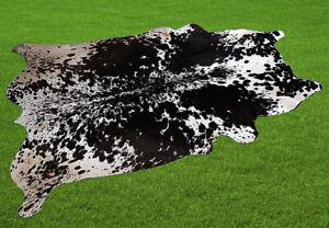 "New Cowhide Rugs Area Cow Skin Leather 17.63 sq.feet (54""x47"") Cow hide U-5551"