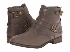 NIB WOMENS CAT BY CATERPILLAR VIVIENNE ANKLE BOOTS - 9.5 / 40.5 - BROWN LEATHER