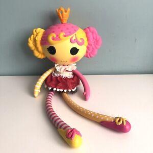 """Lalaloopsy Princess Juniper Doll 15"""" Tall Yellow Pink Bendable Limbs 2012 RARE"""