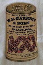 Vintage W. E. Garrett & Sons Sweet Mild Snuff 1942 1943 Pocket Calendar Used