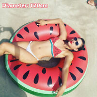 Inflatable Giant Watermelon Swim Ring Float Raft Swimming Pool Beach Water Toy