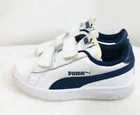 Little Boys Puma Sneakers Running Shoes White/Blue Size 11C