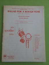 Ballad For A Rough Year, Frank Mantooth, Big Band Arrangement