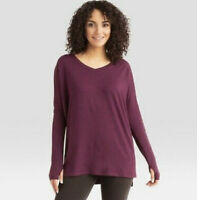 WANDER BY HOTTOTTIES WAFFLE V-NECK TUNIC M POMEGRANATE BRAND NEW IN PACKAGE