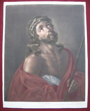 wohl Johann Bernard: Ecce Homo 1820/Christ Crown of Thorns Print Radierung
