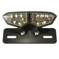 Motorcycle Bike LED Stop Brake License Plate Rear Tail Light Smoke Len 1X JCY