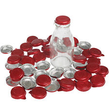 dotcomgiftshop SET OF 50 RED FOIL MILK BOTTLE TOPS