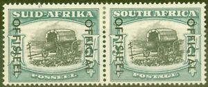 Südafrika 1954 5s Schwarz & Dp Gelb-Grün SG050a Fein Leicht MTD Postfrisch