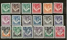 NORTHERN RHODESIA (943) 1938 PART SET 18 ALL HV MINT OG SOME NO GUM MM / MH