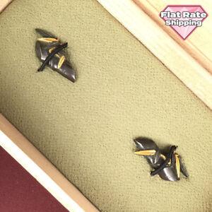 D1539 Japanese Edo Samurai GOLD INLAY SHAKUDO BAMBOO MENUKI katana koshirae