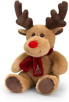 Keel Toys KEELECO REINDEER with SCARF 20cm Soft Toy 100% RECYCLED Eco Plush