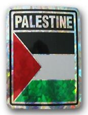 Wholesale Lot 6 Palestine Country Flag Reflective Decal Bumper Sticker