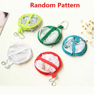 2pcs Cute Portable Fans Foldable Small Round Hand Fan Cooling Pocket Random Gift