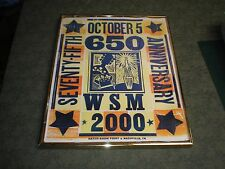 Vintage Framed WSM 650 75th Anniversary Hatch Show Print Vg  Nashville Tn