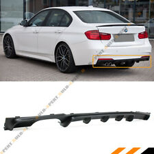 FOR 2012-18 BMW F30 F31 M SPORT MP STYLE LEFT DUAL EXHAUST REAR BUMPER DIFFUSER