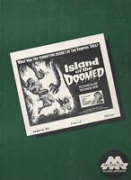 ISLAND OF THE DOOMED original  Movie Pressbook 1967 No cuts  Free Ship