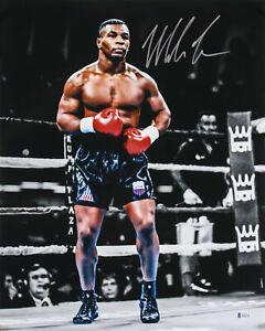 Mike Tyson Authentic Signed 16x20 Vertical Spotlight Photo Autographed BAS