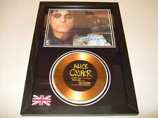 alice cooper SIGNED  GOLD CD  DISC   44