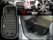 RBP BLACK ALUMINUM OFF ROAD DIMPLE DESIGN FLOOR MAT FOR ACURA HONDA ISUZU MAZDA